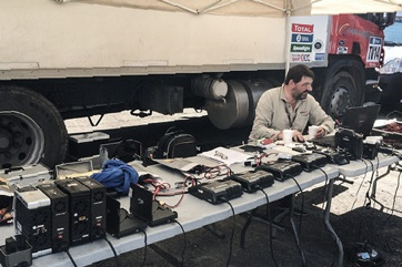 Préparation batteries Rallye Dakar 2016